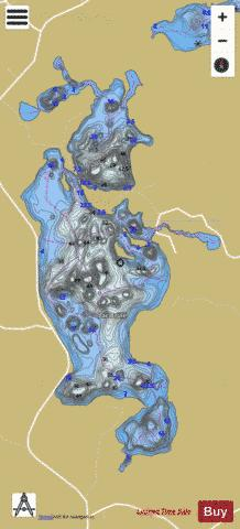 Brule, Lac Fishing Map - i-Boating App