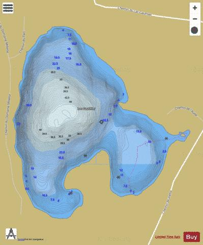 Gauthier, Lac Fishing Map - i-Boating App