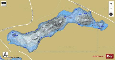Rougeaud, Lac Fishing Map - i-Boating App