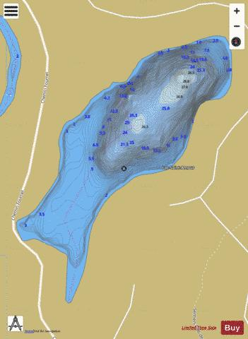 Saint-Amour, Lac Fishing Map - i-Boating App