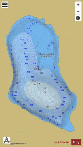 Gale, Lac Fishing Map - i-Boating App