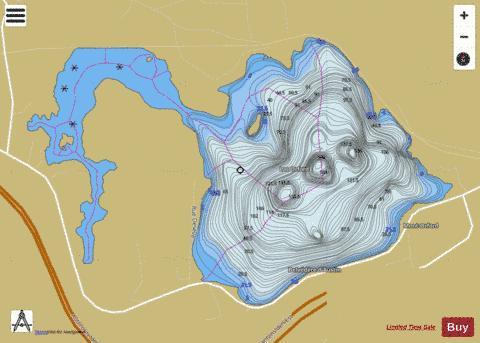 Orford, Lac Fishing Map - i-Boating App