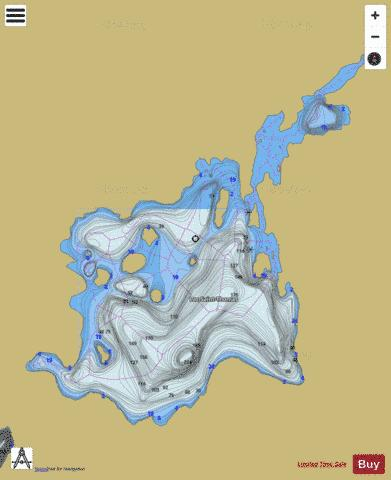 Saint-Thomas, Lac Fishing Map - i-Boating App