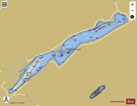 Trois Saumons, Lac Fishing Map - i-Boating App
