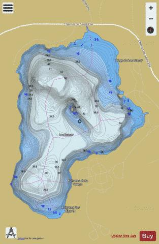 Fraser, Lac Fishing Map - i-Boating App