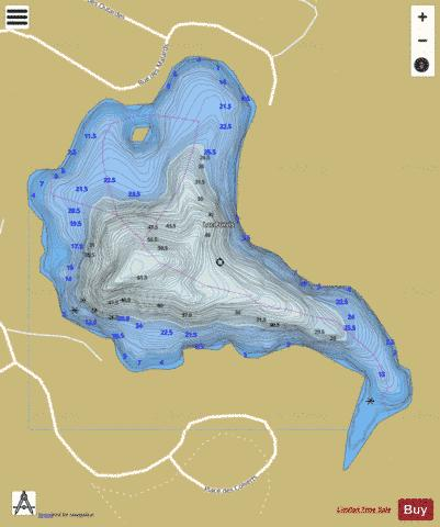 Purvis, Lac Fishing Map - i-Boating App