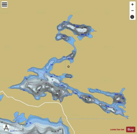 Brodeur, Lac Fishing Map - i-Boating App