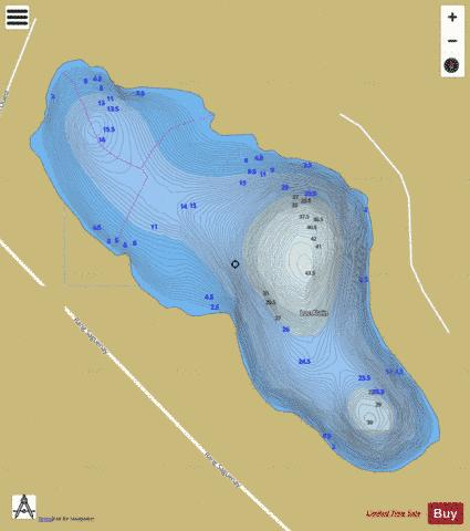 Alain, Lac Fishing Map - i-Boating App