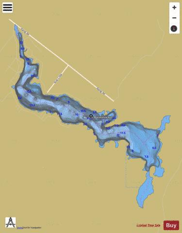 Boissonneault, Lac Fishing Map - i-Boating App