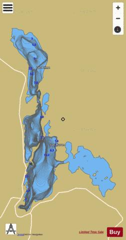 Prime, Lac Fishing Map - i-Boating App