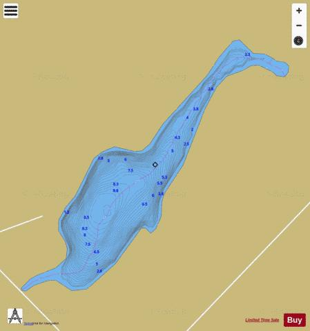 Manet, Lac Fishing Map - i-Boating App