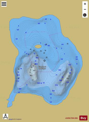 Montagne, Etang de la Fishing Map - i-Boating App