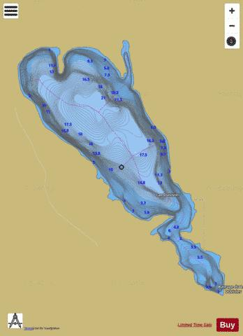 Duvivier, Lac Fishing Map - i-Boating App