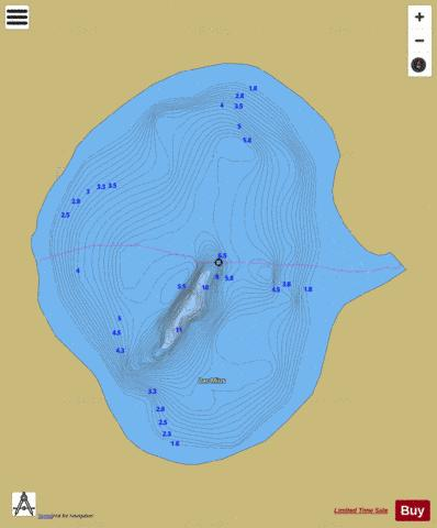 Mius, Lac Fishing Map - i-Boating App