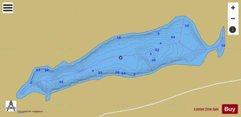 Chandler 1, Lac Fishing Map - i-Boating App