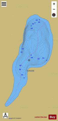 Lavoie, Lac Fishing Map - i-Boating App