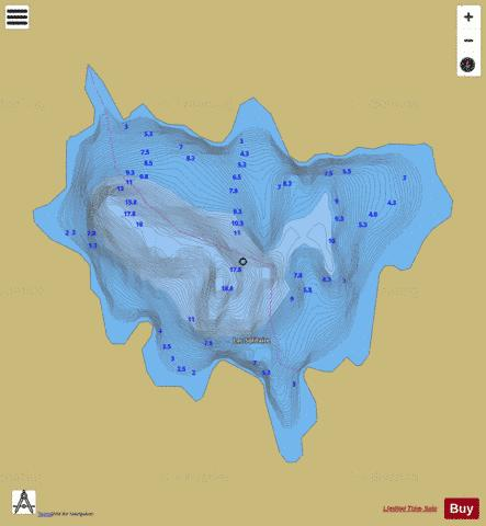 Solitaire, Lac Fishing Map - i-Boating App