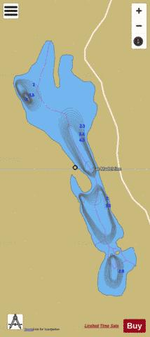 Madeleine, Lac Fishing Map - i-Boating App