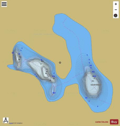 Trepas, Lac du Fishing Map - i-Boating App