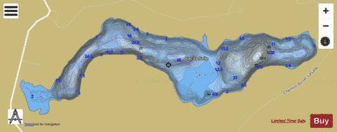 La Salle, Lac Fishing Map - i-Boating App