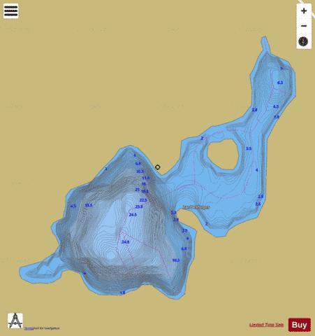 Desforges, Lac Fishing Map - i-Boating App