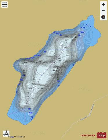 Corbeau, Lac du Fishing Map - i-Boating App