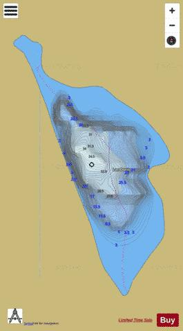 Doris, Lac Fishing Map - i-Boating App