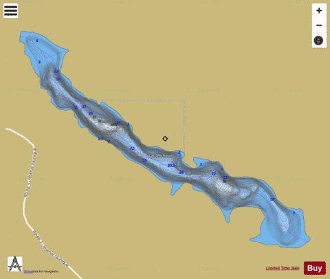 Michaud, Lac Fishing Map - i-Boating App