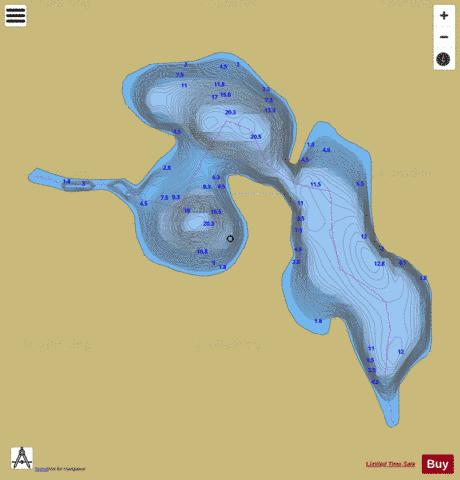 Elbow, Lac Fishing Map - i-Boating App
