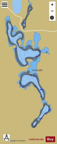 Mosquic, Lac Fishing Map - i-Boating App