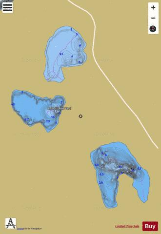 Bois Vert, Baie du Fishing Map - i-Boating App