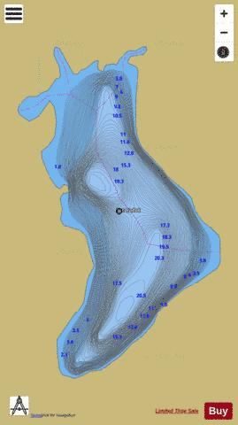 Cadot, Lac Fishing Map - i-Boating App