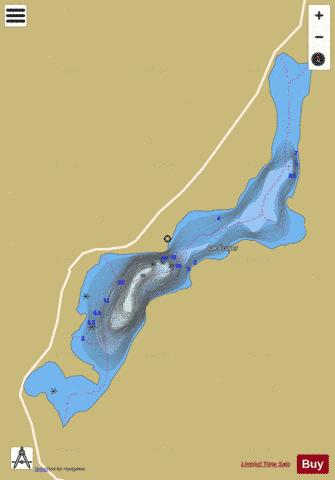 Ecuyer, Lac Fishing Map - i-Boating App
