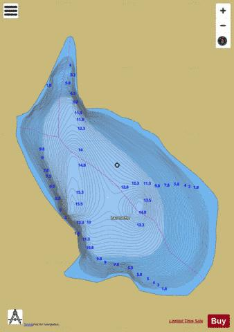 Lache, Lac Fishing Map - i-Boating App