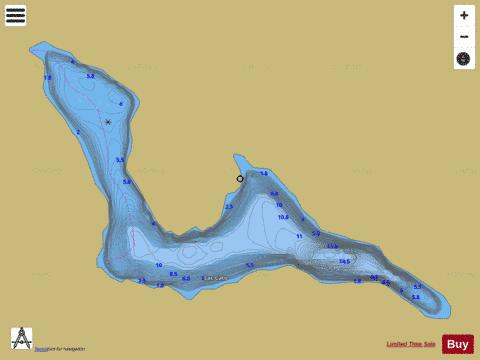 Cato, Lac Fishing Map - i-Boating App