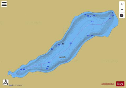 Droit, Lac Fishing Map - i-Boating App