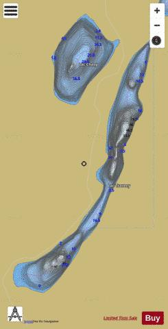 Travecy, Lac Fishing Map - i-Boating App