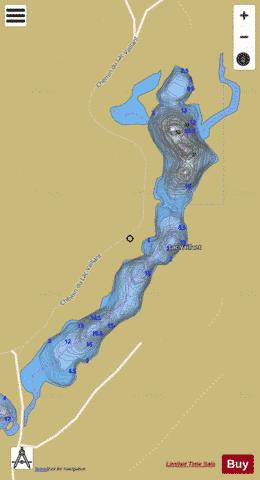 Vaillant, Lac Fishing Map - i-Boating App