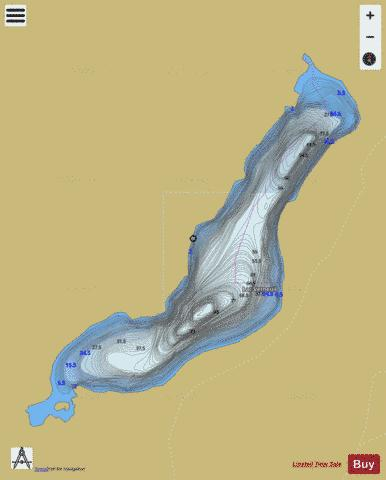 Verneuil, Lac Fishing Map - i-Boating App