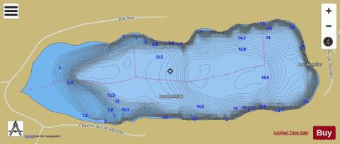 Mondor, Lac Fishing Map - i-Boating App