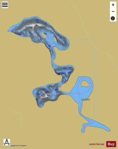 Court, Lac Fishing Map - i-Boating App