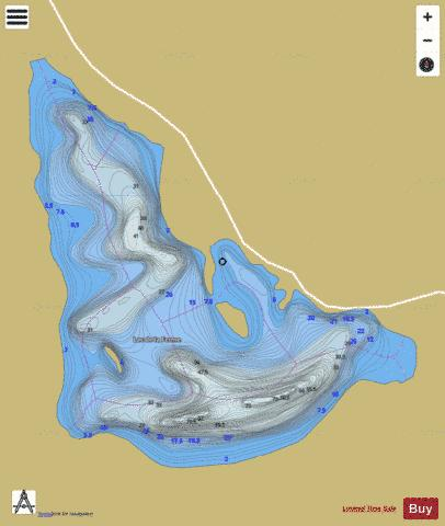 Ferme, Lac de la Fishing Map - i-Boating App