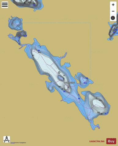 Mastigou, Lac Fishing Map - i-Boating App