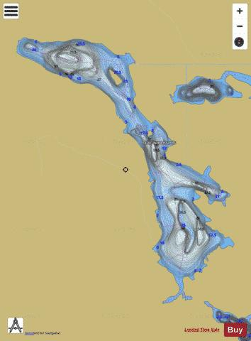 Lezards, Lac aux Fishing Map - i-Boating App