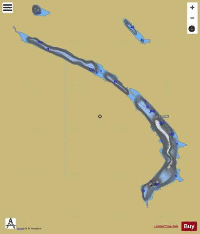 Courbe, Lac Fishing Map - i-Boating App