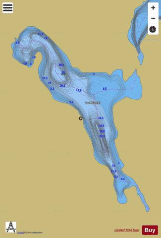 Marcel, Lac Fishing Map - i-Boating App