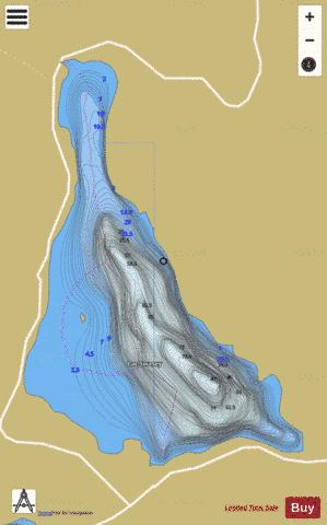 Swasey, Lac Fishing Map - i-Boating App