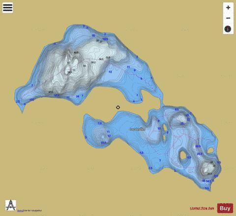 Iles, Lac des Fishing Map - i-Boating App