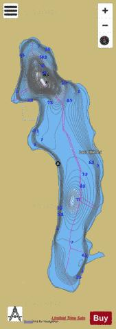 Ollieres, Lac Fishing Map - i-Boating App