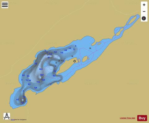 Lowell, Lac Fishing Map - i-Boating App